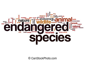 Endangered species word cloud concept - Endangered species...