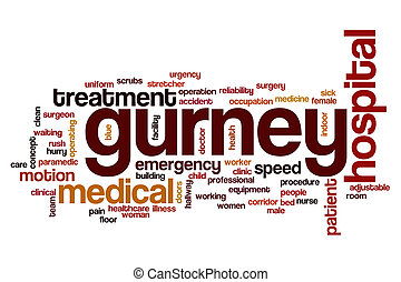 Gurney word cloud concept - Gurney word cloud