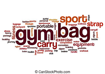 Gym bag word cloud concept - Gym bag word cloud