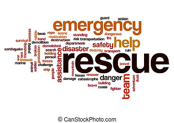 Rescue word cloud concept - Rescue word cloud