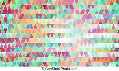 patrón,  multicolor, Extracto, triángulos, geométrico