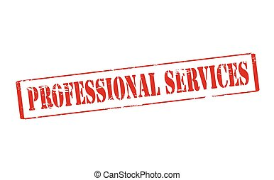 Professional services - Rubber stamp with text professional...