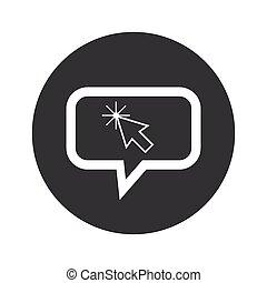 Round arrow cursor dialog icon - Image of arrow cursor in...