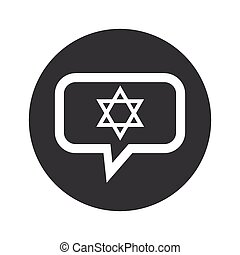 Round Star David dialog icon - Star of David symbol in chat...