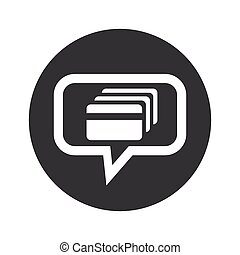Round credit card dialog icon - Image of credit card in chat...