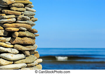 Large pile of stones