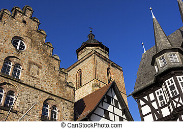 Town Hall, Weinhaus and Walpurgiskirche in Old Town in...