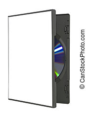 Open DVD case on white with clipping path - Open DVD case...