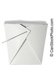 Take out container on white with clipping path - Take out...