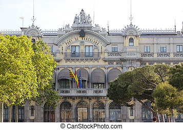 Spain. Barcelona port authority bui