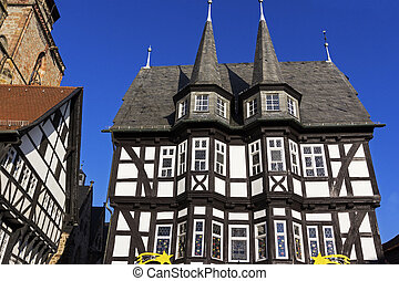 Town Hall in Old Town in Alsfeld - Town Hall in historic Old...