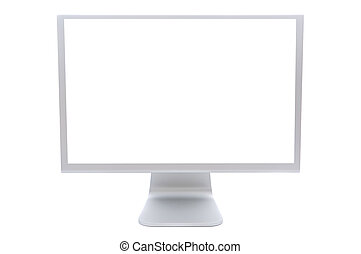 computer monitor - computer monitor in white over a white...