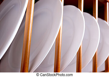 dish in the cupboard