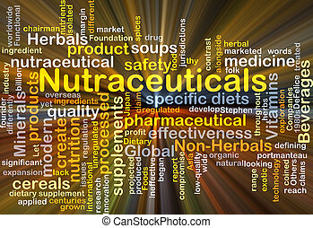 Nutraceuticals background concept glowing - Background...