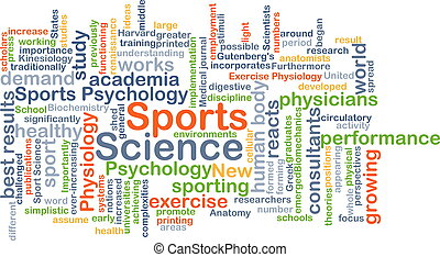 Sports science background concept - Background concept...