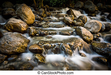 Mountain Stream Long Exposure Shooting