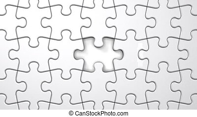 White Puzzle That Changing To Black