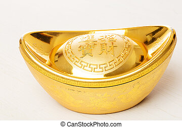 Chinese gold ingot