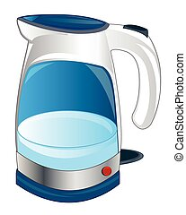 Teapot electric - Electric teapot on white background is...