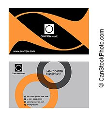 Collection vertical business cards