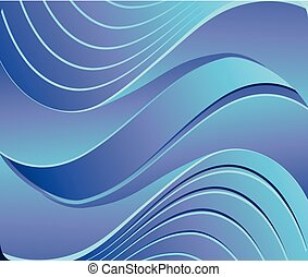 Wave abstract background blue color