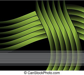 Abstract wavy template green Vector