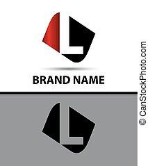 Letter L Vector elegant alphabet symbol