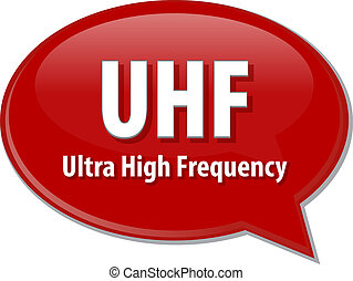 UHF acronym definition speech bubble illustration - Speech...