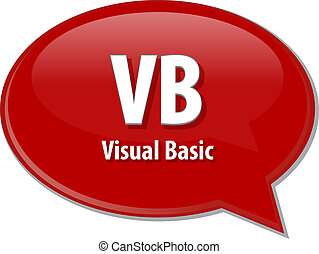 VB acronym definition speech bubble illustration - Speech...
