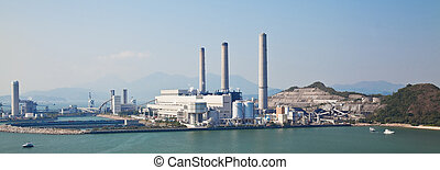 Coal-fired power station in Lamma Island, Hong Kong