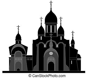 church - Religious building in black and white colors