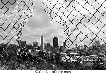 San Francisco skyline -California USA - SAN FRANCISCO - MAY...