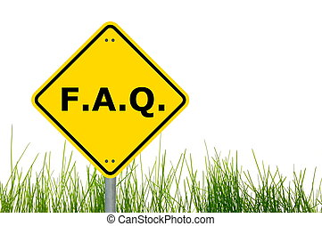 faq or frequently asked question showing internet concept...