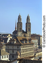 Grossmunster church, Zurich - The Grossmunster is a...