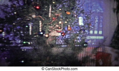 TENNESSEE, USA - 1952: Christmas - Unique vintage 8mm film...