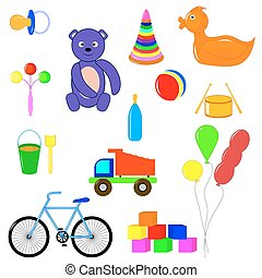 baby items and toys for children of
