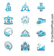 Attraction icons - MARINE series - Amusement park or funfair...