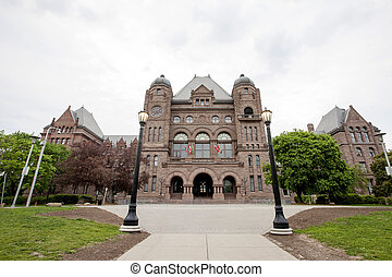 Ontarios Legislative Building Toronto Canada downton...