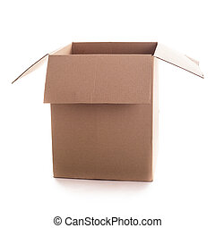 Craft box isolated - Big craft box isolated on white...