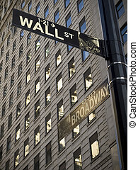 Wall Street - A Wall Street sign when it crossover with...
