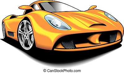my original design car isolated on the white background