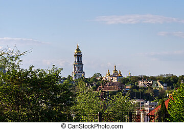 Kiev-Pechersk Lavra - urban landscape with the Kiev-Pechersk...
