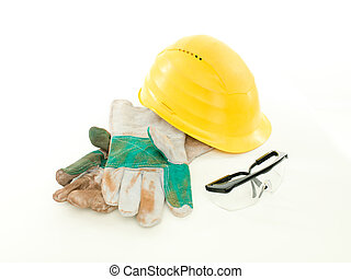 protective workwear on white background