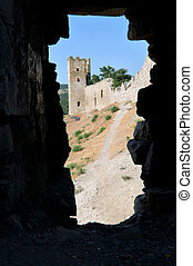 stronghold  - Genovese stronghold through the window