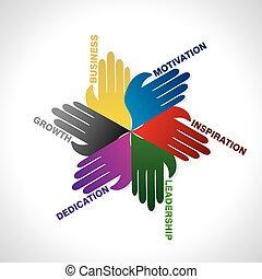 business teamwork idea concept