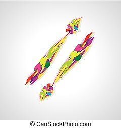 painting brush artistic colorful vector