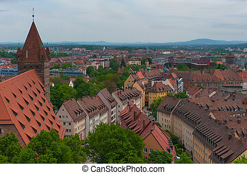 Panorama of Nuremberg.
