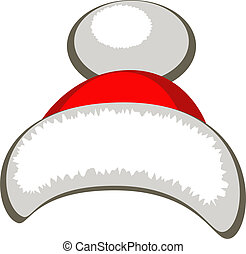 Santa hat - Vector Santa hat, isolated. EPS 8, AI, JPEG
