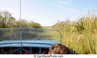 Airboat in Everglades - Ride with an airboat through the...