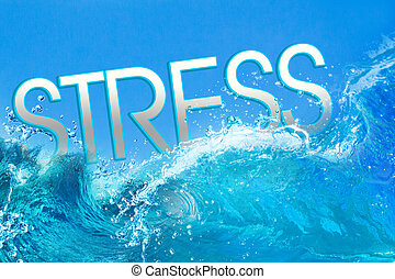 Stress text in ocean waves